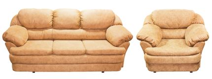 Couch and armchair royalty free stock images