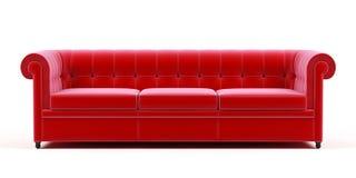 Couch auf einem weißen Hintergrund. Lizenzfreie Stockfotografie