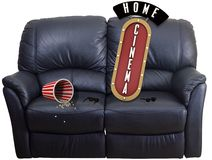 Couch cinema home Royalty Free Stock Photos