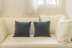 Couch detail and pillow Royalty Free Stock Images