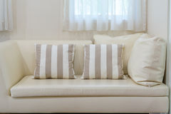 Couch detail and pillow Stock Photos