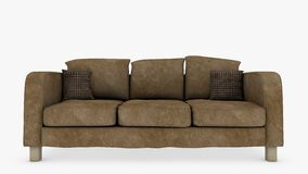 Couch Front View Stock Photography