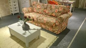 Couch furniture with flower pattern Stock Photos