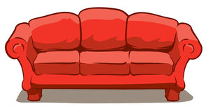 Couch. An Illustration of a big comfy red couch Stock Photography