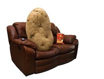 Couch-Kartoffel Stockbilder