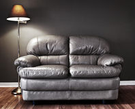 Couch and lamp Royalty Free Stock Photo