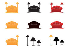 Couch. And lamp vector illustration Royalty Free Stock Photos