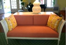 Couch in living room. Retro couch in modern home living room Royalty Free Stock Photography