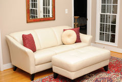 Couch in Living Room. Couch in a home living room Stock Photography