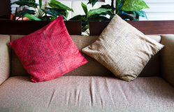 Couch and pillow detail Royalty Free Stock Photos