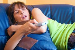Couch potato Stock Image