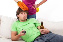 Couch potato Royalty Free Stock Photos