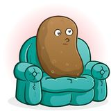 Couch Potato Cartoon Character Royalty Free Stock Images