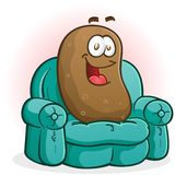 Couch Potato Cartoon Character Royalty Free Stock Photos
