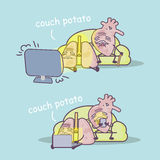 Couch potato concept Stock Image