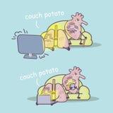 Couch potato concept Stock Image