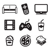 Couch Potato Icons Stock Photos