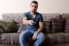 The couch potato Stock Images