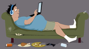 Couch potato Stock Photo