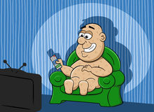 Couch potato Stock Images