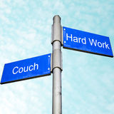Couch potatoe or hard worker ? Stock Images