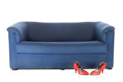 Couch and red shoes | Isolated Royalty Free Stock Photos