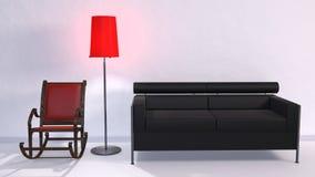 Couch Schaukelstuhl Stock Image