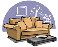 Couch and table Royalty Free Stock Images