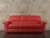 Couch to face a blank wall Royalty Free Stock Photos