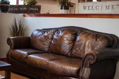 Couch Interior Design of a Beauty Salon stock photography