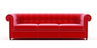 Couch on a white background. Royalty Free Stock Photography