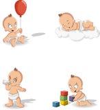 Couche-culotte de port de bébé garçon Image libre de droits
