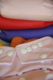 Couche-culotte rose de tissu au foyer Image libre de droits