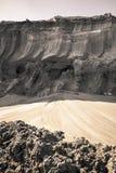 Couche de terre de mine de charbon Photographie stock libre de droits