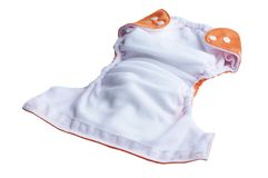 Couche intérieure de couche-culotte lavable de tissu Images stock