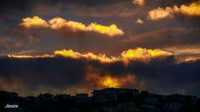 Coucher de soleil Imagen de archivo libre de regalías