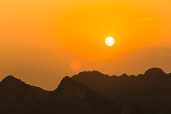 Coucher de soleil Photos libres de droits