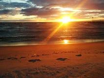 Coucher de soleil Photographie stock libre de droits