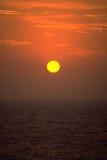 Coucher de soleil au-dessus de l'océan Image libre de droits
