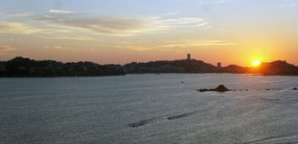 Coucher du soleil à Acapulco image stock