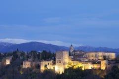 Coucher du soleil à Alhambra Photos libres de droits