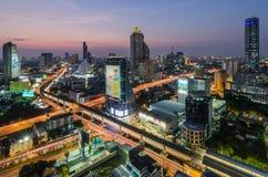 Coucher du soleil à Bangkok Images libres de droits