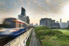 Coucher du soleil à Bangkok Photographie stock