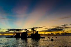 Coucher du soleil à Boracay Images libres de droits