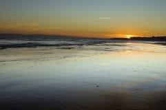 Coucher du soleil à Bournemouth images libres de droits