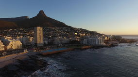 Coucher du soleil à Cape Town clips vidéos