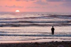 Coucher du soleil à dominical Images libres de droits