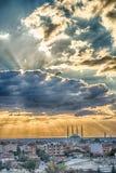 Coucher du soleil à Edirne Photo libre de droits