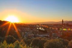 Coucher du soleil à Florence, Italie image stock