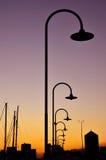 Coucher du soleil à Gênes Photos stock